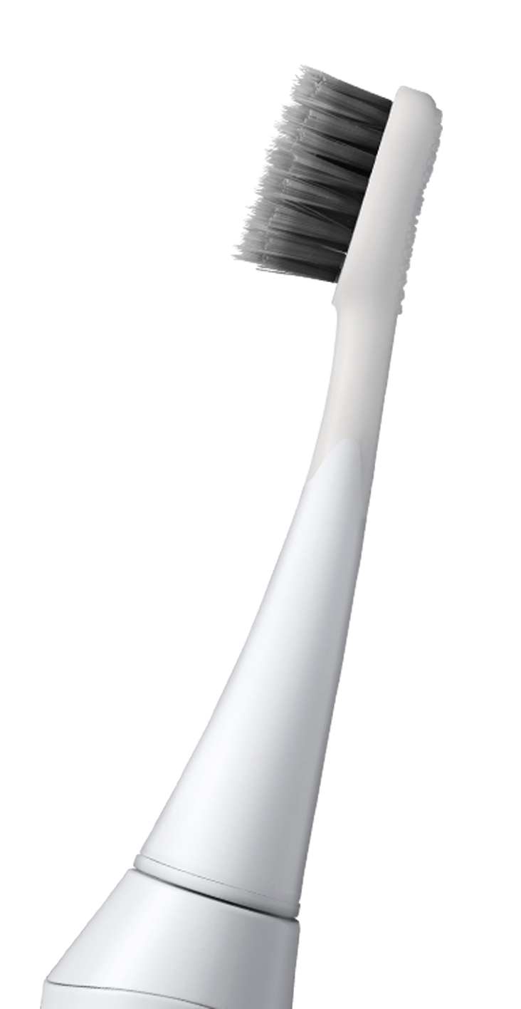 Side View of Burst Toothbrush White